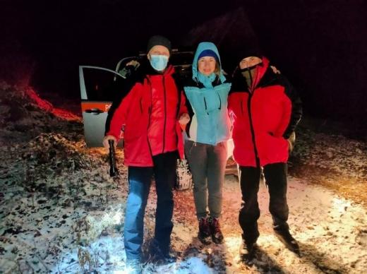 На Новий рік у Карпатах заблукала туристка з Київської області