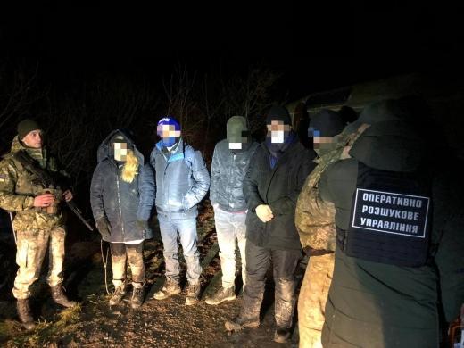 На Закарпатті прикордонники затримали нелегальних мігрантів і їх переправників