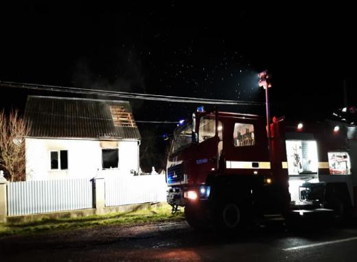 У селі на Перечинщині спалахнув приватний будинок