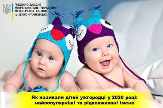 Як ужгородці називали своїх дітей у 2020 році: найпопулярніші та рідковживані імена