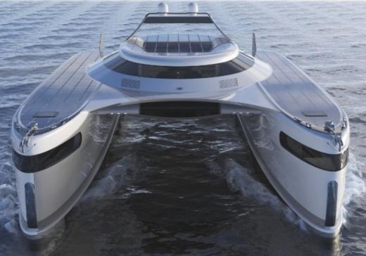 """Італійські дизайнери представили """"сонячний"""" катамаран, що рухається по воді і суходолу"""