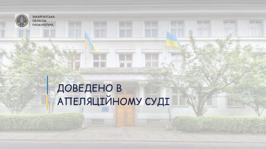 Доведено вину начальника Берегівського міжрайонного управління водного господарства
