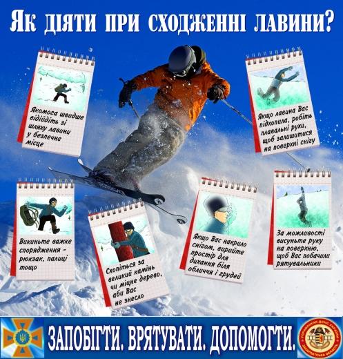 Закарпатські рятувальники попереджають про сніголавинну небезпеку в горах
