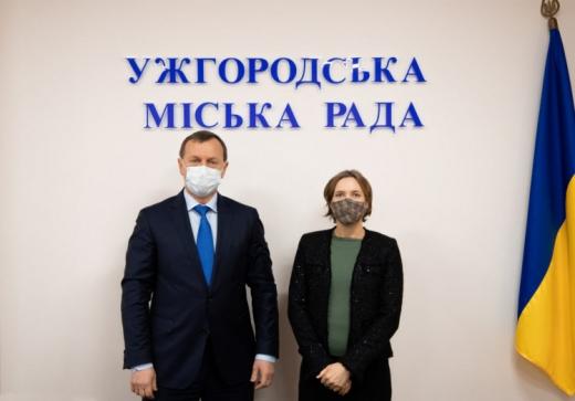 Французький дипломат зустрілася із міським головою Ужгорода