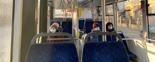Шість автобусів Ужгорода працюють для перевезення медичних працівників