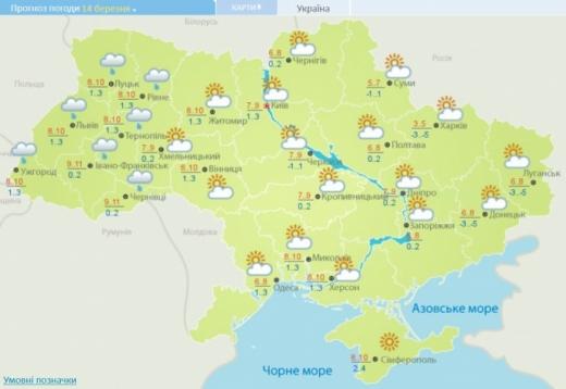 Погода: в неділю дещо потепліє