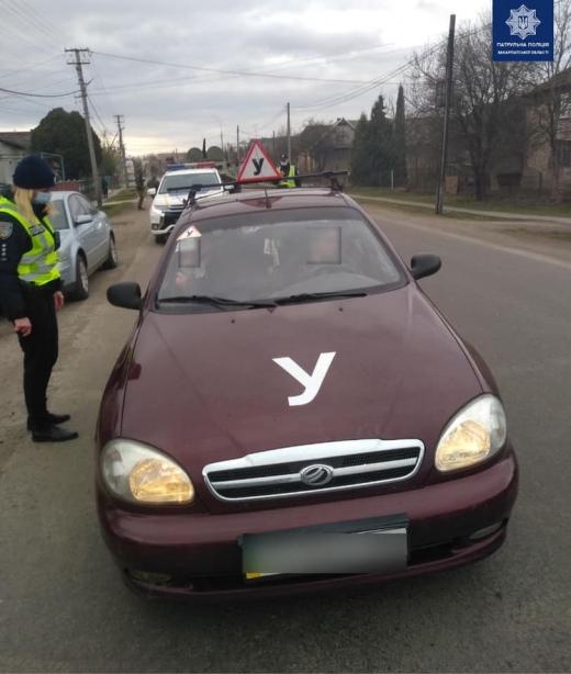 12 водіїв за порушення правил навчальної їзди притягнули до відповідальності протягом тижня