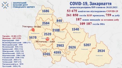 За минулу добу померли 10 закарпатців з COVID-19 (Інфографіка)