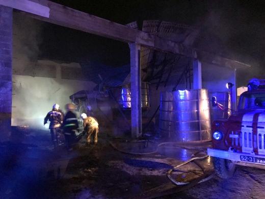 Пожежа на Берегівщині: палала будівля на території фермерського господарства