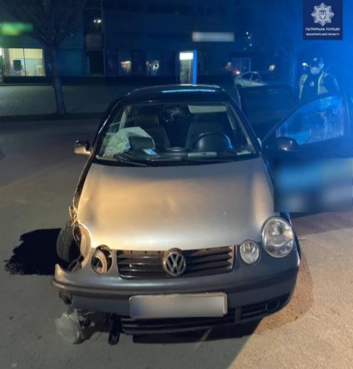 В Ужгороді водійка у стані сп'яніння скоїла ДТП