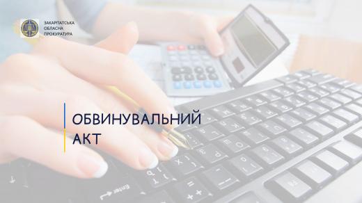 В Ужгороді за незаконні фінансові операції судитимуть бухгалтера держпідприємства