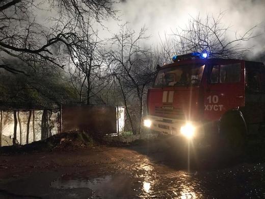 На пожежі в Закарпатті загинув чоловік