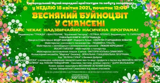 """Ужгородців і гостей міста запрошують на """"Весняний Буйноцвіт у Скансені"""""""