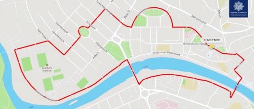 18 квітня на пів дня перекриють центральну частину Ужгорода (КАРТА)