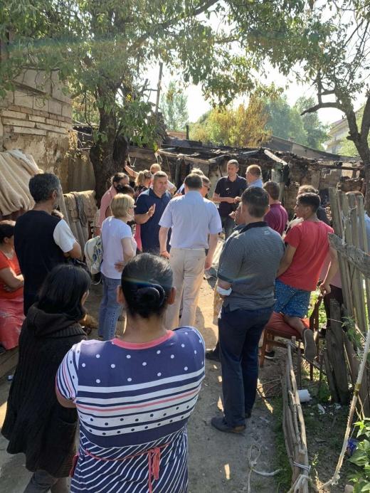 Через пожежу в ромському поселенні відбулося позапланове засідання комісії ТЕБ та НС