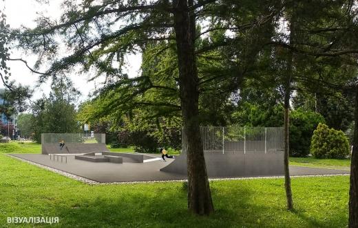 В Ужгороді будують скейтмайданчик: що відомо