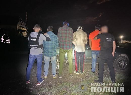 На Закарпатті попередили спробу незаконного переміщення через кордон чотирьох нелегалів