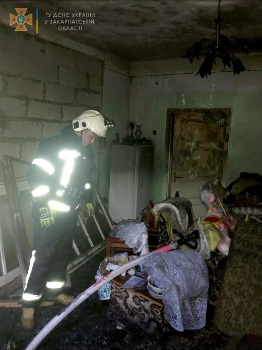 На Берегівщині рятувальники ліквідували пожежу в житловому будинку