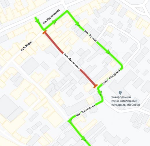 До уваги водіїв: в Ужгороді буде перекрито ще одну вулицю