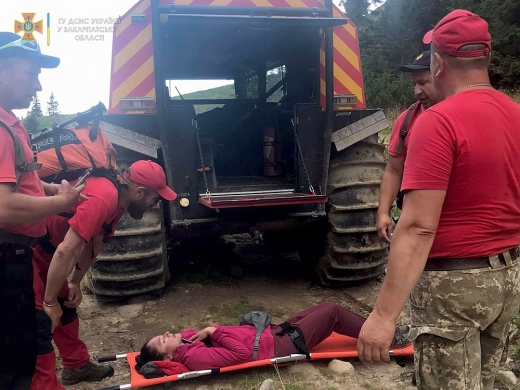 На Рахівщині рятували туристку із м. Запоріжжя: деталі