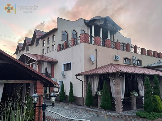 На Закарпатті горів популярний готельно-ресторанний комплекс