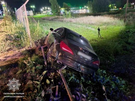 В Мукачеві нетверезий водій вчинив ДТП