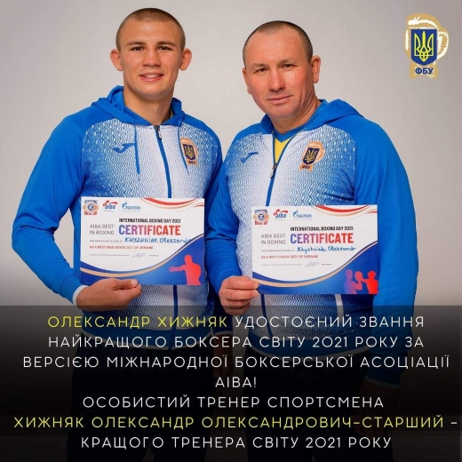 Українець Олександр Хижняк став найкращим боксером 2021 року