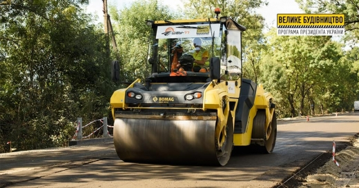 На Берегівщині продовжують відновлювати дорогу до кордону з Угорщиною